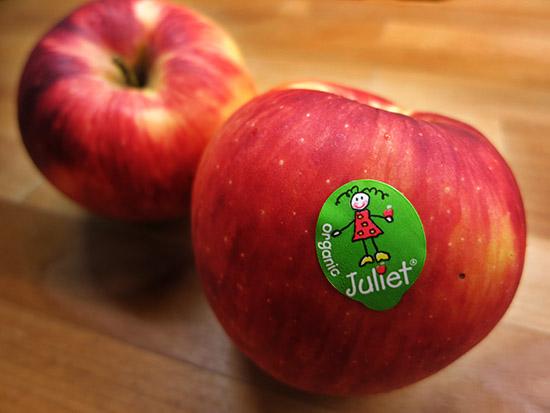 I Love Organic Apples